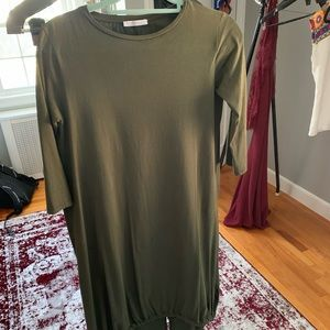 Zara olive green maxi dress